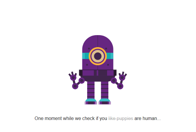 Onze eigen spamdetectiebot in actie - Checking if you are human